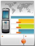 Brochure de télécommunication de fournisseur Photo libre de droits