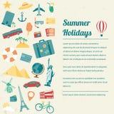Brochure de voyage Concept de course et de tourisme Vecteur Photos stock