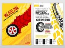 Brochure des véhicules à moteur de pneu illustration libre de droits