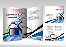 Brochure design Royalty Free Stock Image