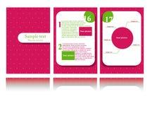 Brochure design Royalty Free Stock Photo