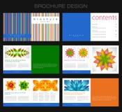 Brochure design stock photography