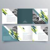 Brochure design, brochure template. Creative tri-fold, trend brochure Stock Images