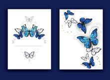Brochure design with butterflies morpho