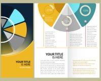 Brochure design. Colorful, corporate brochure, template design Royalty Free Stock Photo