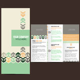 Brochure design. Corporate business brochure in flat style Royalty Free Illustration