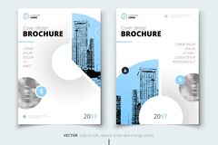 Brochure design. Corporate business report cover, brochure or fl. Yer design. Leaflet presentation. Flyer with abstract circle, round shapes background. Modern Stock Photo