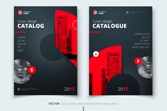 Brochure design. Corporate business report cover, brochure or fl. Yer design. Leaflet presentation. Flyer with abstract circle, round shapes background. Modern Stock Image