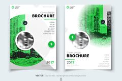 Brochure design. Corporate business report cover, brochure or flyer design. Leaflet presentation. Flyer with abstract. Circle, round shapes background. Modern vector illustration