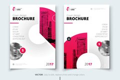 Brochure design. Corporate business report cover, brochure or fl. Yer design. Leaflet presentation. Flyer with abstract circle, round shapes background. Modern Royalty Free Stock Images