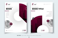Brochure design. Corporate business report cover, brochure or fl. Yer design. Leaflet presentation. Flyer with abstract circle, round shapes background. Modern Royalty Free Stock Photos