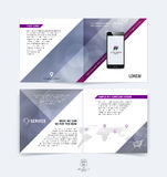 Brochure design, flyer, cover, booklet and report layout templat Stock Photography
