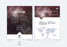 Brochure design, flyer, cover, booklet and report layout templat Royalty Free Stock Image