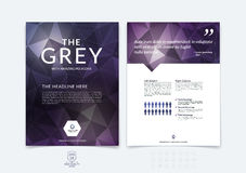 Brochure design, flyer, cover, booklet and report layout templat Stock Images
