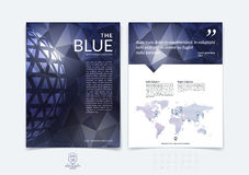Brochure design, flyer, cover, booklet and report layout templat Stock Photos