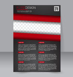 Brochure design. Flyer template. Editable A4 poster for business Stock Photography