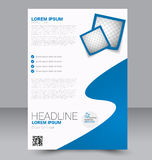 Brochure design. Flyer template. Editable A4 poster for business Stock Images