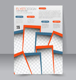 Brochure design. Flyer template. Editable A4 poster Stock Photography