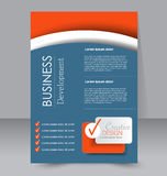 Brochure design. Flyer template. Editable A4 poster. For business, education, presentation, website, magazine cover. Blue and orange color Royalty Free Stock Photo