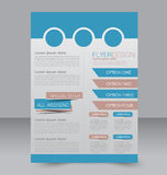 Brochure design. Flyer template. Editable A4 poster Stock Image