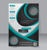 Brochure design. Flyer template. Editable A4 poster Royalty Free Stock Photography