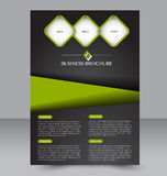 Brochure design. Flyer template. Editable A4 poster for business Royalty Free Stock Photography