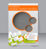 Brochure design. Flyer template. Editable A4 poster Stock Photo