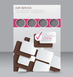 Brochure design. Flyer template. Editable A4 poster Royalty Free Stock Photos