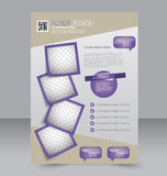 Brochure design. Flyer template. Editable A4 poster Stock Images