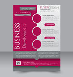 Brochure design. Flyer template. Editable A4 poster Royalty Free Stock Image