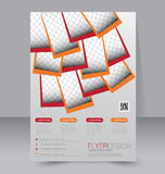 Brochure design. Flyer template. Editable A4 poster Royalty Free Stock Images