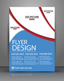 Brochure Design - Flyer Template Royalty Free Stock Images