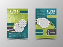 Brochure design. Flyer vector template Royalty Free Stock Photos