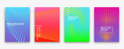 Brochure design with halftone dots and neon gradients Royalty Free Stock Images