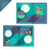 Brochure design with house and dot vector illustration
