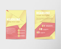 Brochure design Layout template in A4 with gold paper Royalty Free Stock Images