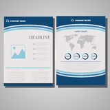 Brochure design Layout template, size A4, Front page and back pa Royalty Free Stock Images