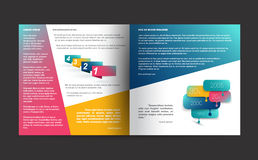 Brochure design. Stock Photography
