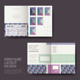 Brochure design with pattern style Royalty Free Stock Photo