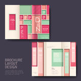 Brochure design with pink Royalty Free Stock Photography