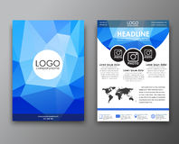 Brochure design with polygonal background Royalty Free Stock Photos