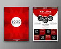 Brochure design with polygonal background Royalty Free Stock Photo