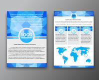 Brochure design with polygonal background Stock Images