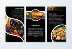 Brochure design ready to use royalty free stock photography