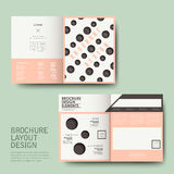 Brochure design with repeat dot. Vector template of brochure design with repeat dot Stock Image
