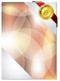 Brochure design with ribbon Royalty Free Stock Photo