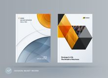 Brochure design round template. Colourful modern abstract set, annual report with circle for branding. Brochure design smooth round template. Creative abstract Royalty Free Stock Images