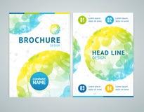 Brochure Design in A4 Size. Vector. Brochure Design in A4 Size with Abstract Color Sphere. Vector illustration royalty free illustration