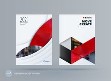 Brochure design round template. Colourful modern abstract set, annual report with circle for branding. Brochure design smooth round template. Creative abstract Stock Photography