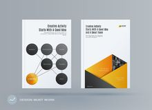 Brochure design round template. Colourful modern abstract set, annual report with circles rings for branding. Brochure design smooth round template. Creative Stock Illustration